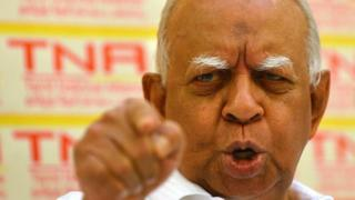 File photo: Sri Lankan Tamil National Alliance (TNA) leader Rajavarothayam Sampanthan