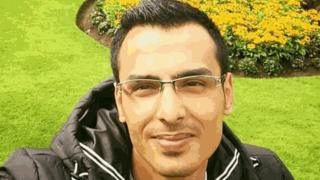 A picture of Hazem Ahmed Ghreir who was murdered in Belfast city centre on Sunday evening