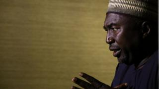 Lawyer Zannah Mustapha, mediator for Chibok girls, speaks during an exclusive interview with Reuters in Abuja, Nigeria May 8, 2017.