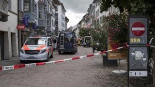Police cordon in Schaffhausen