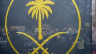 تجمع دو سال پیش در حمایت از رائف بدوی، وبلاگنویس سعودی در زندان