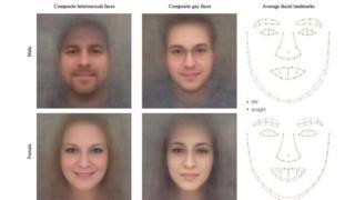 Imagens de rostos escaneados