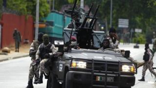 Armed rebel soldiers in Abidjan. Photo: 12 May 2017