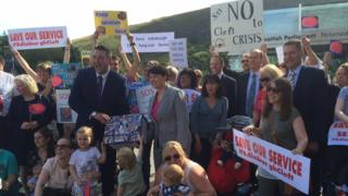 Cleft palate protest outside Holyrood