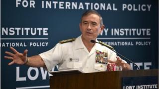 """哈里斯再次就南海問題表示,美方反對中國在南海的""""挑釁作為""""。"""
