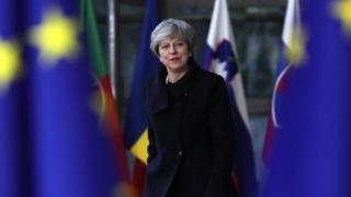 Theresa May at the European Union leaders summit on 14 December