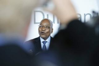 Wafanyakazi walimkemea bwana Zuma na kumtaka ajiuzulu.