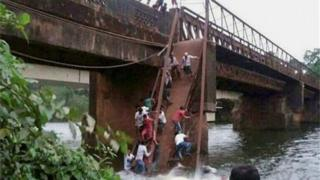 The bridge was reportedly more than 60 years old and was banned from use.