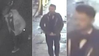 CCTV images of man police are trying to trace