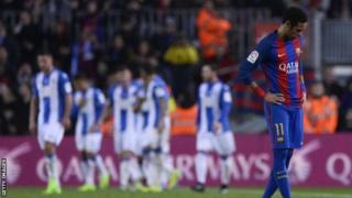 Neymar ayaa 95 gool u dhaliyay Barcelona isaga oo 171 ciyaarood u saftay tan iyo markii uu kooxda Santos kaga soo biiray 2013kii