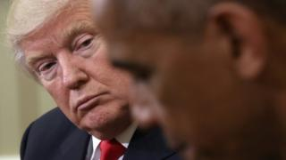 Donald Trump and Barack Obama, 10 November
