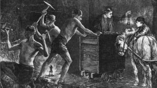 Generic image - Miners in 1871 in the Durham coalfield