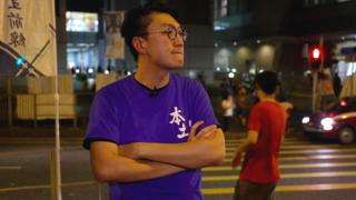 Edward Leung on the streets of Hong Kong