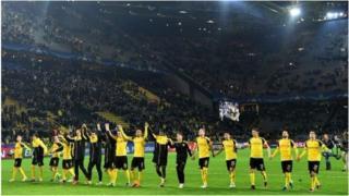 Borussia ni umugwi ugize kane utsinze ibitego 8 mu rukino rumwe rw'imigwi yabaye iya mbere iwabo i Buraya