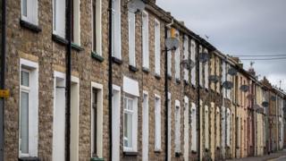 Terraced houses in Ebbw Vale