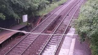 There was landslip on the Buxton and Hazel Grove on 11 June