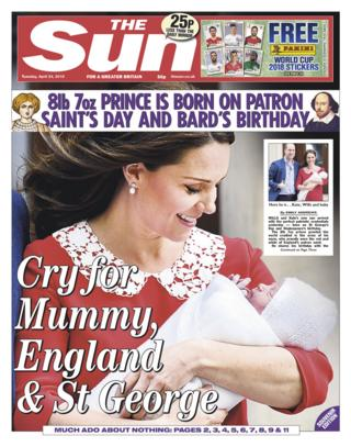 Sun front page -24/04/18