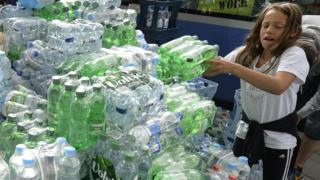 German bottled water delivery in Munich, 13 Sep 15