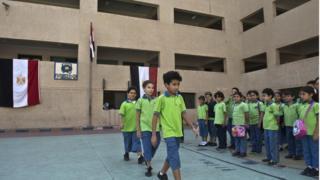 تلاميذ في مدرسة خاصة في مصر