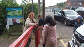 traveller trying to remove Sarah Freeman