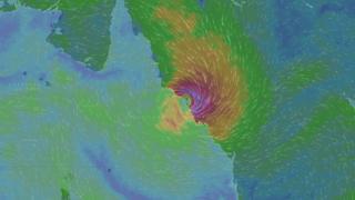 Так циклон выглядел на интерактивном канале погоды