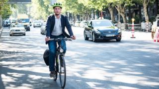 Joseph Alexander Smith riding his bike