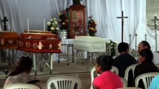 Mass for the 11 family members killed, in Coxcatlan, Mexico