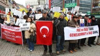 Defendants' relatives protesting in Ankara, Dec 2012