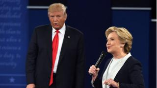 Democratic presidential nominee Hillary Clinton and Republican nominee Donald Trump.