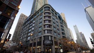 A Zara store in Chicago