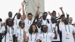 El equipo de refugiados en Río