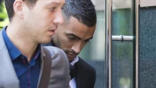 """Leicester City footballer Danny Simpson arrives at Manchester Magistrates"""" Court"""