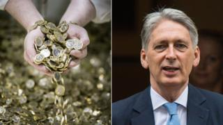Coins and Philip Hammond