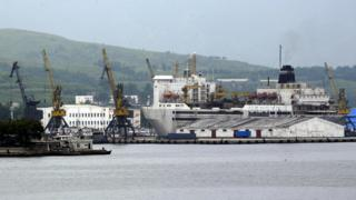 The Ships Port of Rason in North Korea, established to promote economic growth through foreign investment