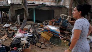 Desastre dejado por el huracán Irma en Cuba