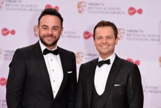 Ant and Dec at the BAFTA awards in May 2017