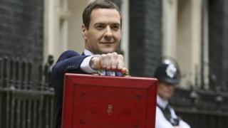 George Osborne with the red box