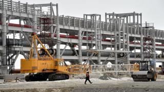 Строящийся терминал для сжиженного газа на Ямале