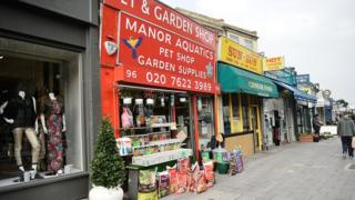 A UK high street with independent shops