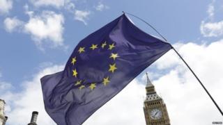 European Flag outside Parliament