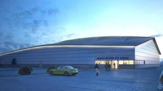 An artist's impression of the ice arena
