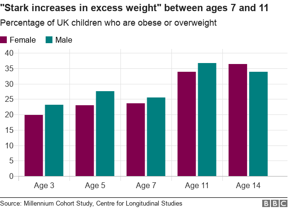Obese Children Charts 'Stark increase' in ov...