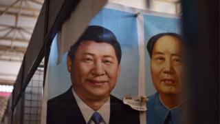 习近平与毛泽东的相片