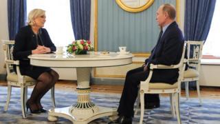 Владимир Путин Марин Ле Пен