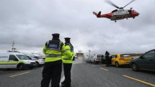 Searches for missing coastguard helicopter crew