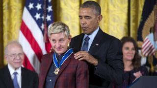 Ellen DeGeneres ve Barack Obama