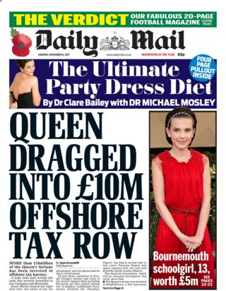 The Mail front page