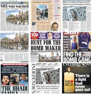 英國報紙頭版