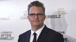 "Matthew Perry arrives at a special screening of ""The Kennedys - After Camelot"" at The Paley Center for Media on Wednesday, March 15, 2017, in Beverly Hills, Calif."