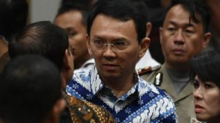 Ahok di sidang vonis.